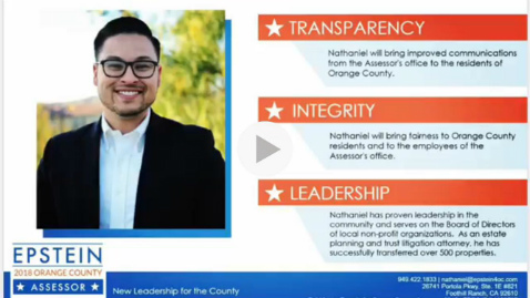 VIDEO: Nathaniel Fernandez Epstein on The 3 Pillars of His Campaign